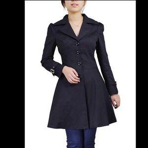 Jackets & Blazers - Black Corset Goth Trench Coat Size L